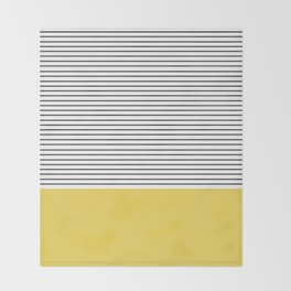 MINIMAL Green Stripes Throw Blanket