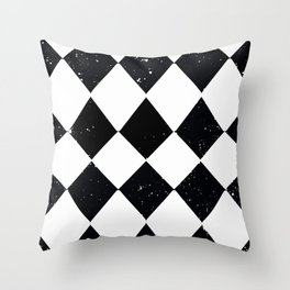 STARS AND CHECKERBOARDS BLACK AND WHITE Throw Pillow