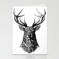 ornate Stationery Cards featuring Ornate Buck by BIOWORKZ