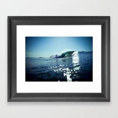 Estuary Light Flares Framed Art Print