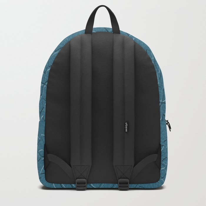 Leather Look Petal Pattern - Niagara Color Backpack