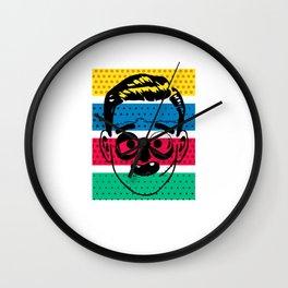Creepy Gentleman Wall Clock