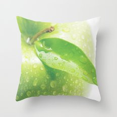 Green Apple Throw Pillow