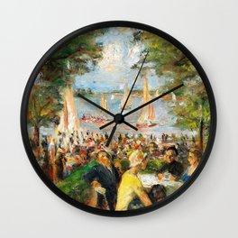 Garden bar on the Havel - Digital Remastered Edition Wall Clock