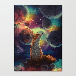The Fox on the Planets Canvas Print