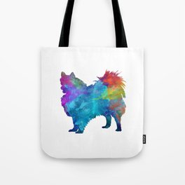 Pomeranian in watercolor Tote Bag