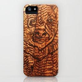 Bear pyrography iPhone Case