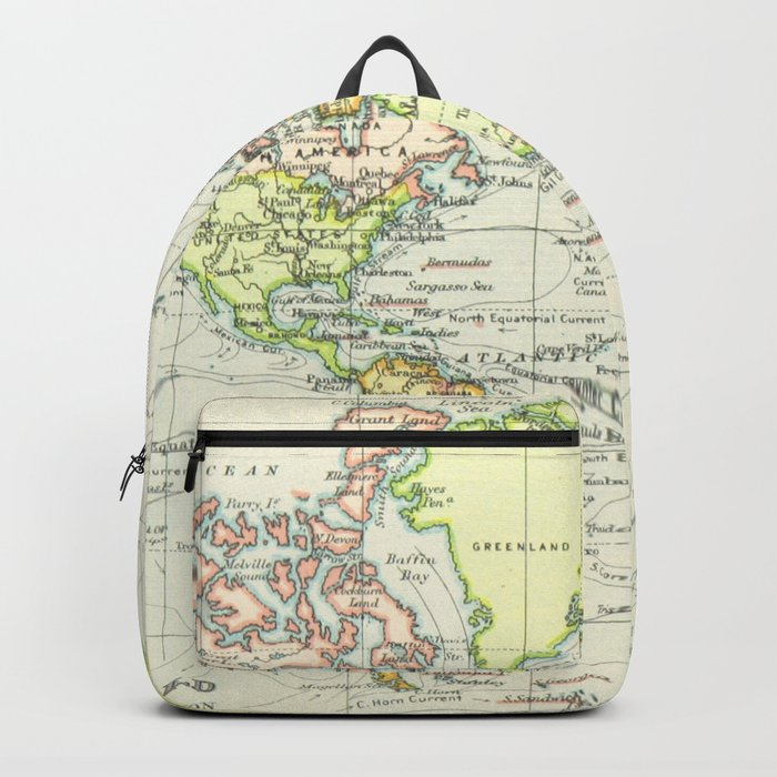 Vintage world map 1899 backpack by bravuramedia society6 vintage world map 1899 backpack gumiabroncs Gallery