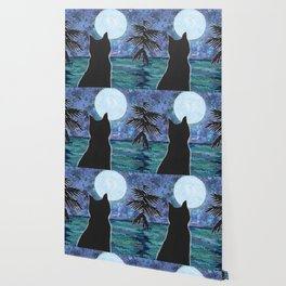 Cat Moon Wallpaper