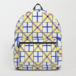 symetric tartan and gingham 1 -vichy, gingham,strip,square,geometric, sober,tartan Backpack