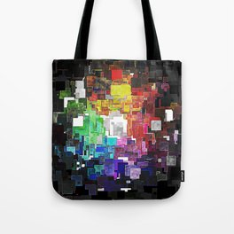 Spectral Geometric Abstract Tote Bag