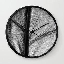 silver leaf Wall Clock