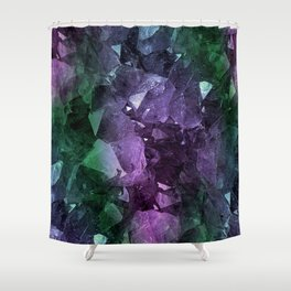 Crystal Geode Shower Curtain