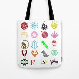 RWBY Emblems Tote Bag