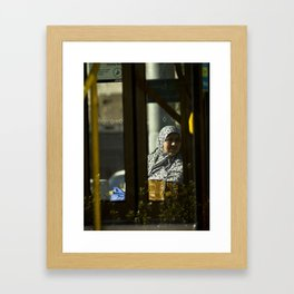 Waiting. (Victoria Market tram stop, 2012) Framed Art Print
