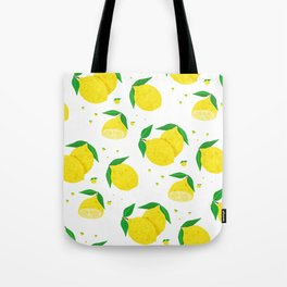 Big Lemon pattern Tote Bag