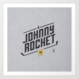 Johnny Rocket Art Print