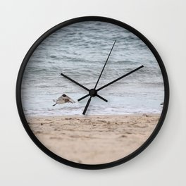 Flying Sandpipers Wall Clock