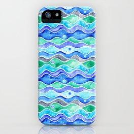 Ocean Pattern - Dolphin iPhone Case