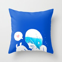 Blue lovers Throw Pillow