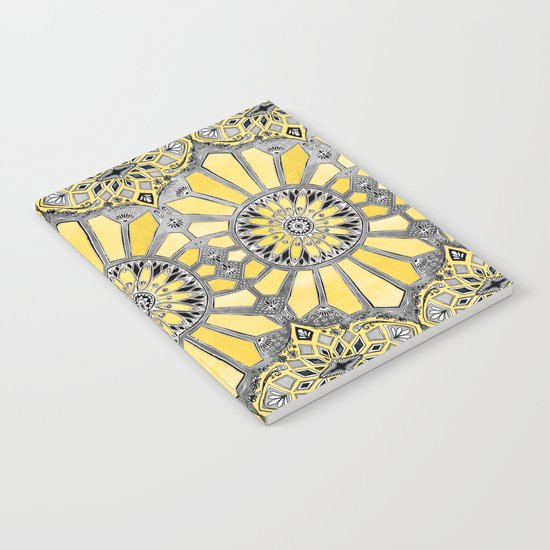 Sunny Yellow Radiant Watercolor Pattern Notebook