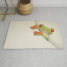 Little Red Eyed Tree Frog Rug