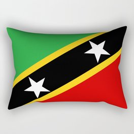 Saint Kitts and Nevis country flag Rectangular Pillow