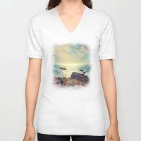 chile V-neck T-shirts featuring Quintero, Chile. by Viviana Gonzalez