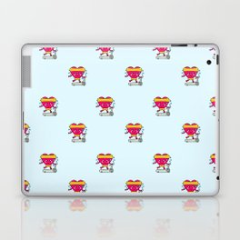 My heart goes faster for you pattern Laptop & iPad Skin