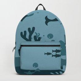 Underwater landscape Backpack