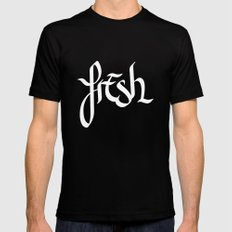 fresh Black MEDIUM Mens Fitted Tee
