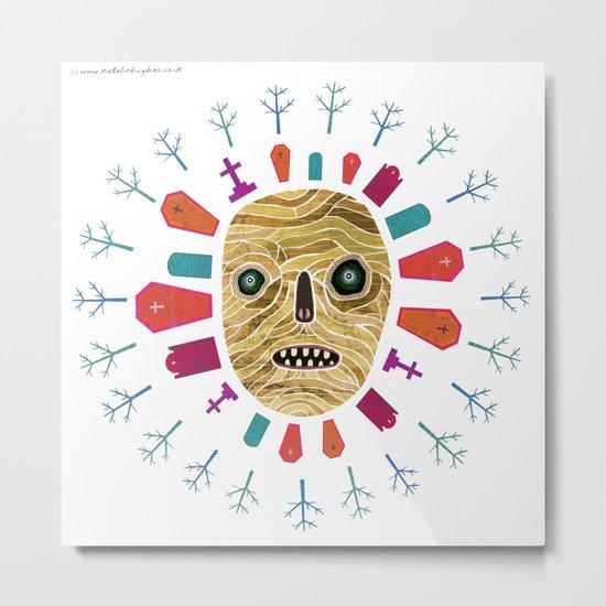Halloween print: Mummy Metal Print