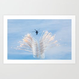 Royal Navy Sea King Art Print