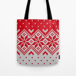 Winter knitted pattern 10 Tote Bag