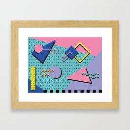 Memphis Pattern 14 - 80s Retro Framed Art Print