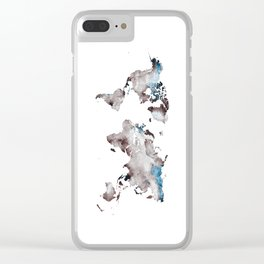 world map 73 Clear iPhone Case