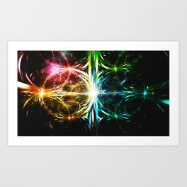 Prismatic Cataclysm Art Print