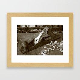 Carpentry tools Framed Art Print
