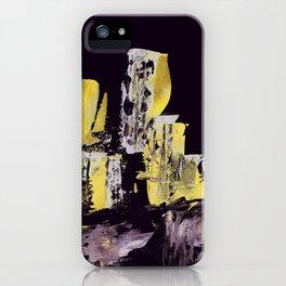 Yellow Purple Cityscape iPhone Case