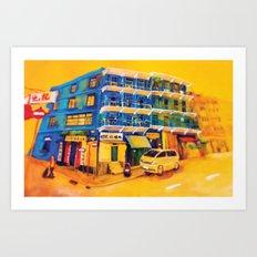 blue house (hong kong) Art Print