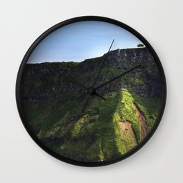 The lonely tree Wall Clock