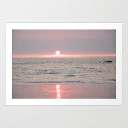 sunset on the beach II Art Print