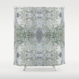 LoVinG V - white-grey Shower Curtain