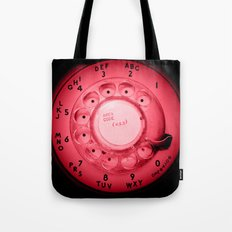 The dialer dials red Tote Bag