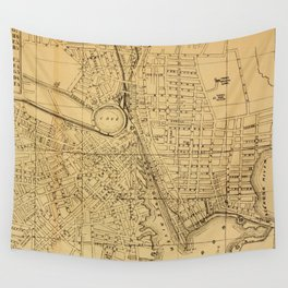 Vintage Map of Providence RI (1880) Wall Tapestry