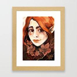 Brambles fairy Framed Art Print