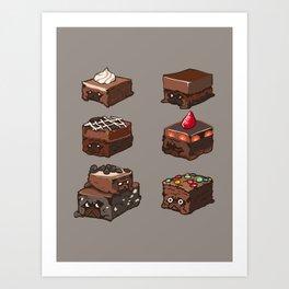Pug Brownies Art Print