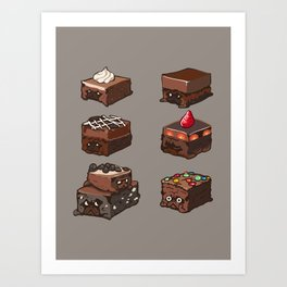 Pug Brownies Art Print