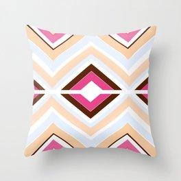 Mod stripes in raspberry Throw Pillow