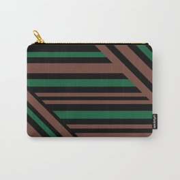 Geometric pattern Striped triangles 3 Carry-All Pouch